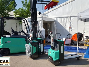 Carrelli elevatori in fiera
